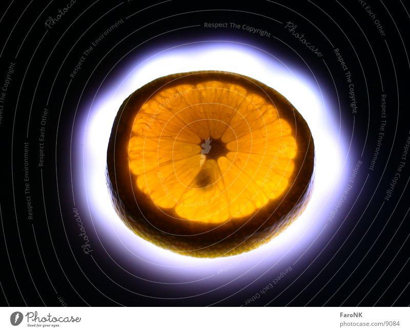 Orange Makroaufnahme Nahaufnahme orange Frucht Fensterscheibe