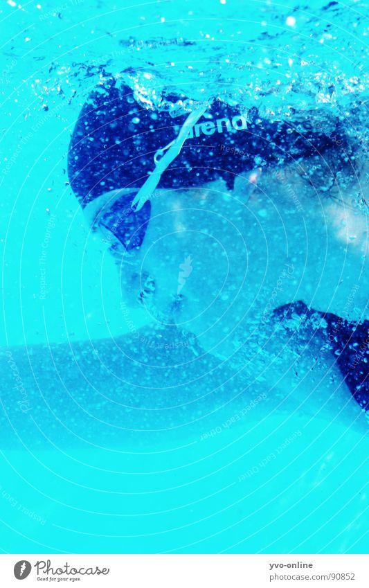 blubb Unterwasseraufnahme tauchen türkis Frau atmen Silhouette Sport Spielen Profil Schwimmen & Baden