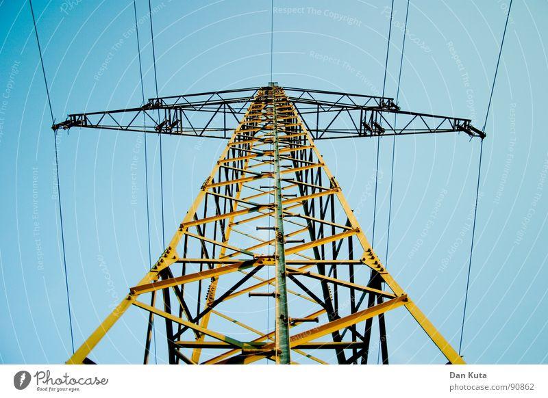\|T|/ Himmel blau Elektrizität offen dünn Strahlung Bauwerk Strommast edel Draht Leitung zierlich Ehrlichkeit aufregend Tour d'Eiffel