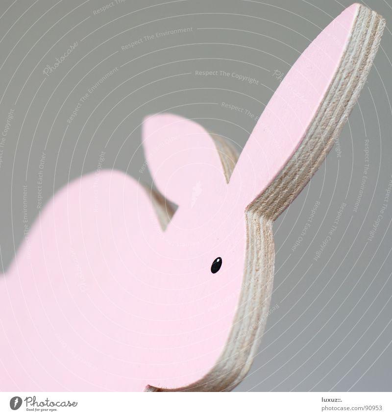 Falscher Hase Holz Frühling rosa Fröhlichkeit Ohr Dekoration & Verzierung Ostern Hase & Kaninchen Säugetier Löffel Osterhase Krimskrams