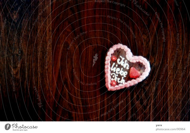 Wo die Liebe hinfällt Freude Holz Glück braun Herz Verliebtheit Lebkuchen