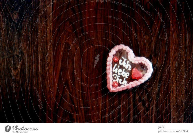 Wo die Liebe hinfällt Freude Liebe Holz Glück braun Herz Verliebtheit Lebkuchen