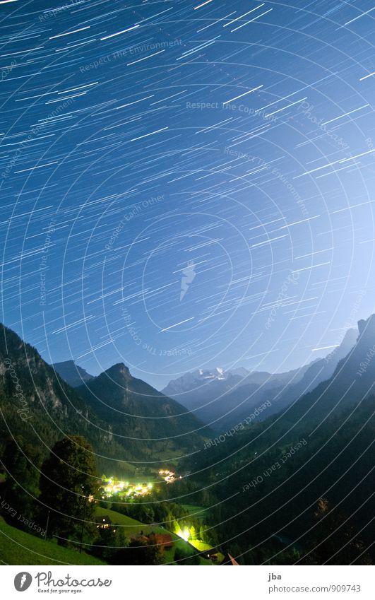 Kiental - Blüemlisalp - 25 Min. Natur Sommer Erholung Landschaft ruhig Ferne Berge u. Gebirge Bewegung Freiheit Zeit Luft Schönes Wetter Stern Urelemente Alpen Schneebedeckte Gipfel