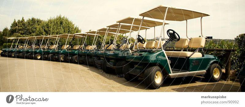 club car Fahrzeug elektronisch Mobilität Golfplatz Club Motor Sommer Dach gefährt Reihe anzahl cart zweisitzer verhaften Rasen Sonne Buggy (Motorrad)