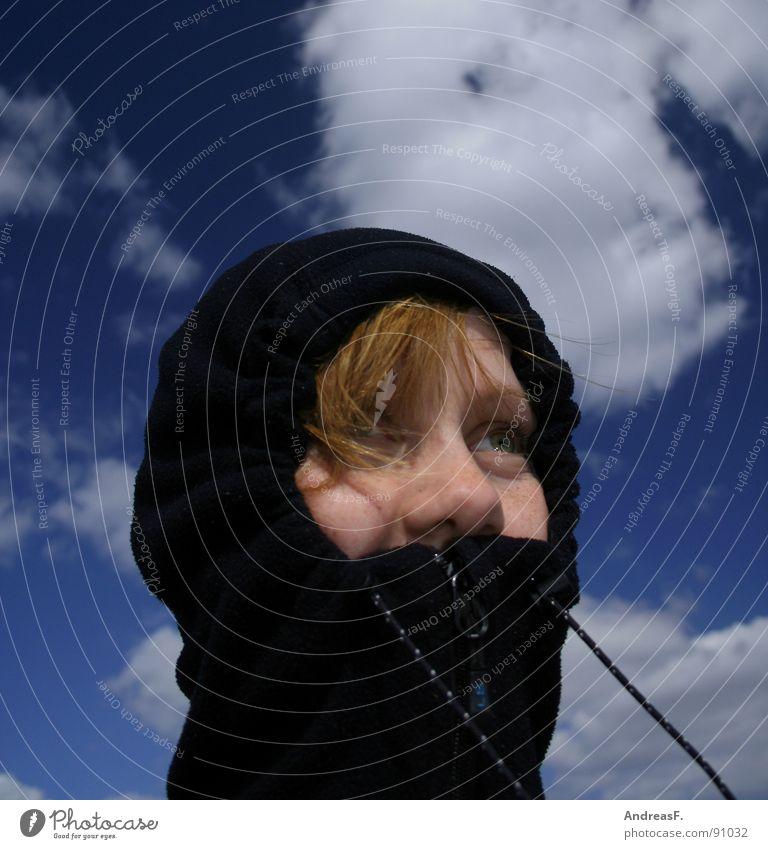 Weathergirl II Himmel Winter Gesicht Wolken kalt Eis Wind Wetter Ausflug Schutz Sturm Jacke Leidenschaft Mütze verstecken frieren