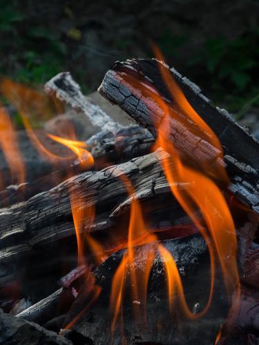 Feuer Holz Sommer Erholung rot ruhig Freude gelb Wärme Herbst Gefühle Frühling grau Garten Feste & Feiern orange Zufriedenheit wandern