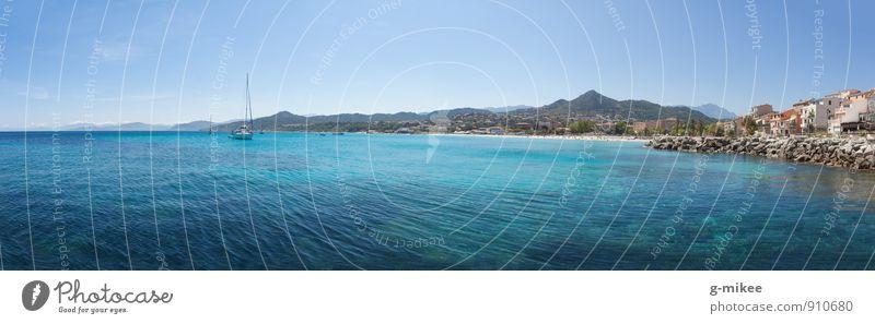 Sonne Strand und Meer Himmel Ferien & Urlaub & Reisen Wasser Sommer Erholung Landschaft Schwimmen & Baden Wasserfahrzeug Insel Aussicht Schönes Wetter