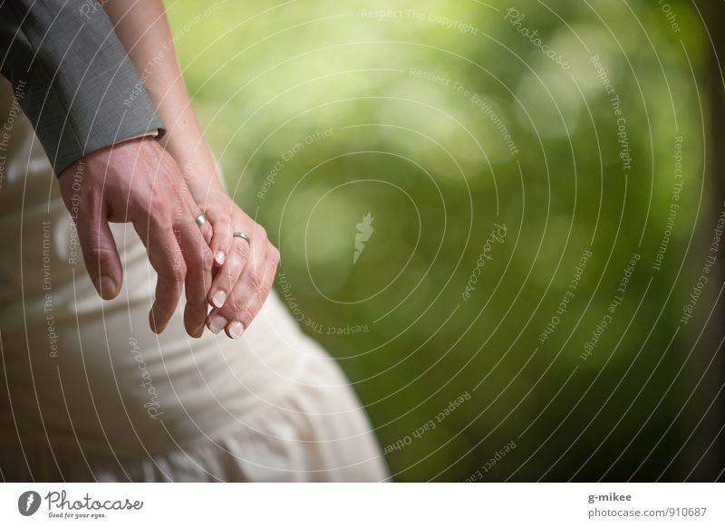 Hände | Eheringe Accessoire Schmuck Ring Zeichen Vertrauen Sicherheit Liebe Verliebtheit Hochzeit Hand Verlobung Hochzeitspaar Farbfoto Außenaufnahme