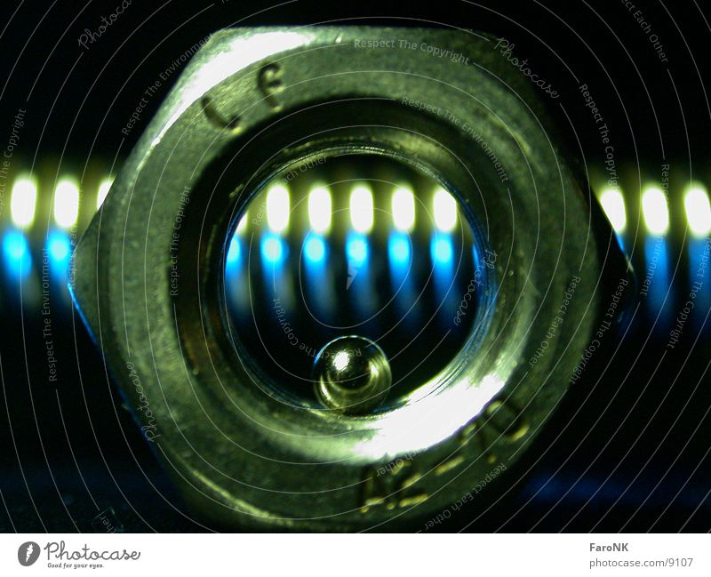 MutterKugelFeder blau grün Feder Kugel