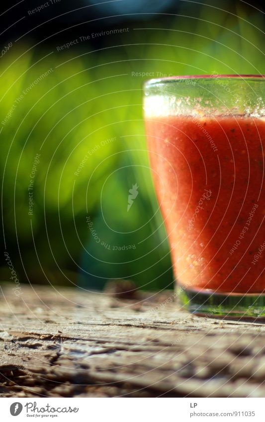 Natur grün rot kalt Wärme Gras grau Essen Lebensmittel Lifestyle Häusliches Leben Glas frisch Ernährung einfach süß