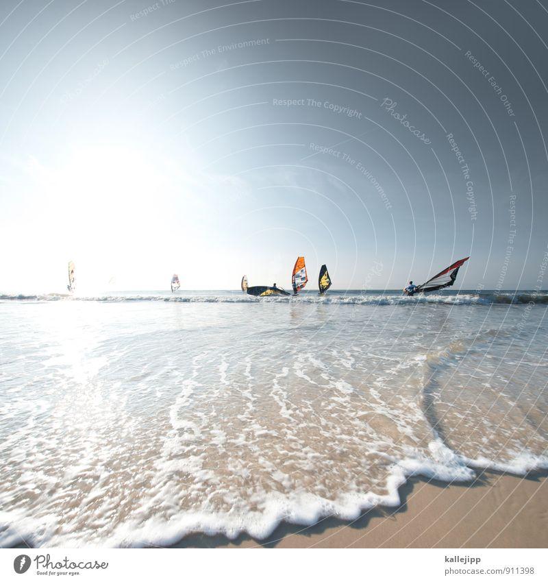 ich will zurück nach westerland Sport Fitness Sport-Training Wassersport Sportler Sportveranstaltung Menschengruppe fahren Surfen Sylt Slalom Segel Windsurfing