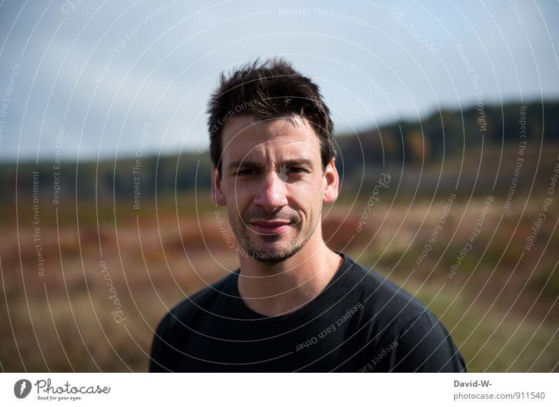 Natürlichkeit Mensch Natur Ferien & Urlaub & Reisen Jugendliche Mann schön Landschaft Junger Mann 18-30 Jahre Erotik Erwachsene Leben Herbst Wiese Gras