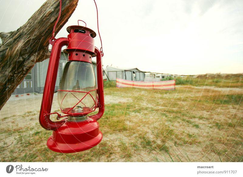 Urlaub Lampe Öllampe Rasen Wiese Düne Stranddüne Ferien & Urlaub & Reisen Baumstamm Laterne