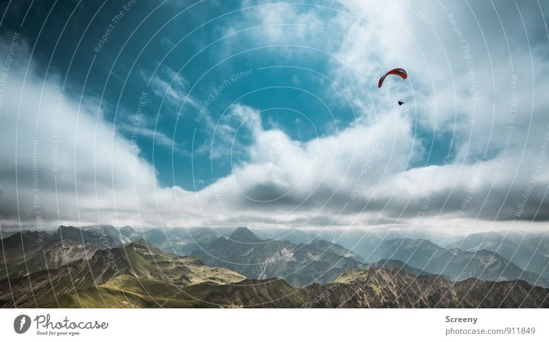 Freiheit Himmel Natur Ferien & Urlaub & Reisen Pflanze Sommer Landschaft Wolken Ferne Berge u. Gebirge Sport fliegen Felsen Freizeit & Hobby Tourismus frei