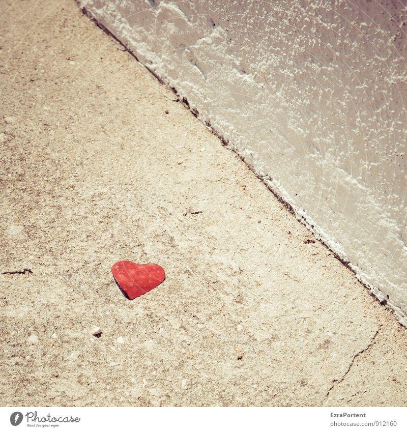 I love you too Bauwerk Mauer Wand Fassade Straße Wege & Pfade Zeichen Linie Stadt grau rot weiß Freundschaft Liebe Verliebtheit Partnerschaft Herz herzförmig