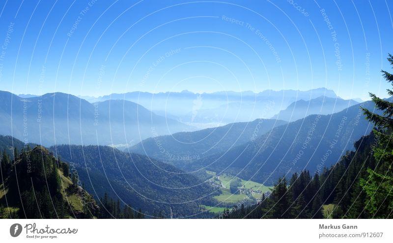 Zugspitze Ferien & Urlaub & Reisen Sommer Natur Landschaft Himmel wandern blau laber Deutschland Europa Alpen Berge u. Gebirge Aussicht Wolkenloser Himmel