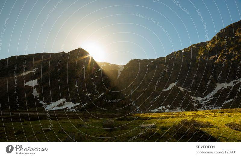 a new day Natur Ferien & Urlaub & Reisen blau weiß Sommer Sonne Erholung Blume Landschaft Wolken Freude Berge u. Gebirge Wiese Liebe Gras Wege & Pfade