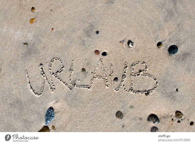ab in den Urlaub Ferien & Urlaub & Reisen Sommer Erholung Meer Strand Ferne Küste Freiheit Stein Sand Tourismus Schriftzeichen Insel Ausflug Abenteuer Zeichen