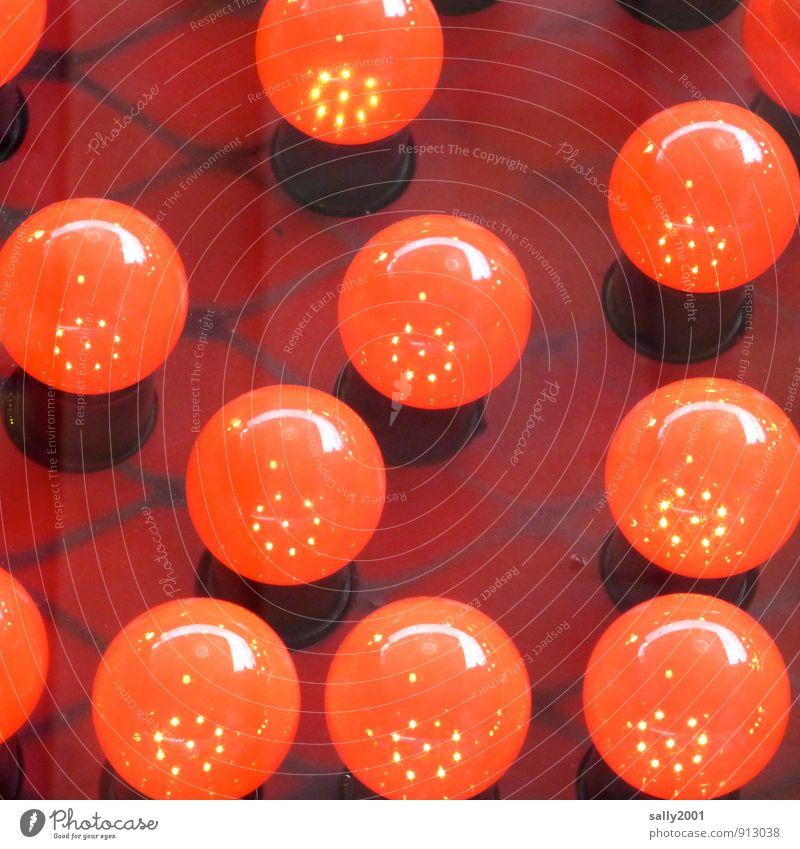 Rotlicht-Quadrat Glühbirne Glas leuchten glänzend Kitsch rund rot Erotik Beleuchtung Beleuchtungselement Lichteffekt Rotlichtviertel Lampe erleuchten hell