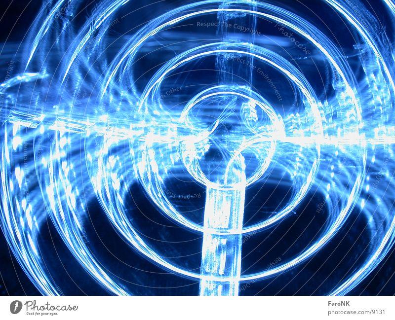 Lüftergitter blau Kreis Gitter