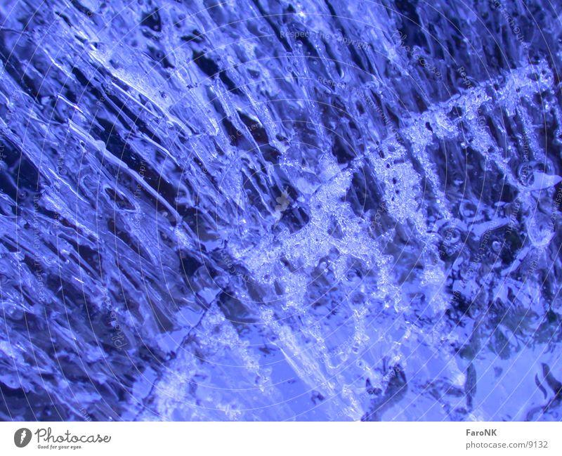 Eisblock Makroaufnahme Nahaufnahme Wasser blau