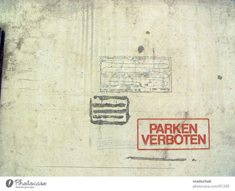 NUMMER VIER alt Einsamkeit Wand grau Mauer Schilder & Markierungen Beton leer trist Industriefotografie Schriftzeichen Buchstaben Zeichen trashig Hinweisschild