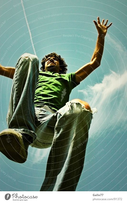 Raubkatze II springen Luft steil gefährlich Angriff attackieren Sommer Funsport fliegen hoch Himmel Dynamik Wildtier Ferid Denken Freiheit Gefühle fun Freude