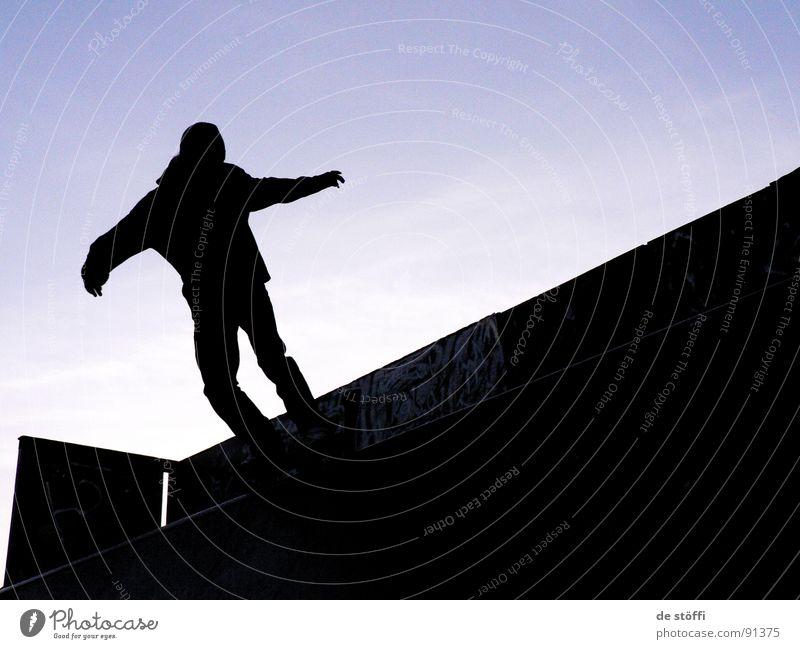 grind.it.black Skateboarding Rampe Trick Gefühle ästhetisch Hagen Grinden Freude silouette Himmel Abend Kontrast yeah gestanden slide hameckepark