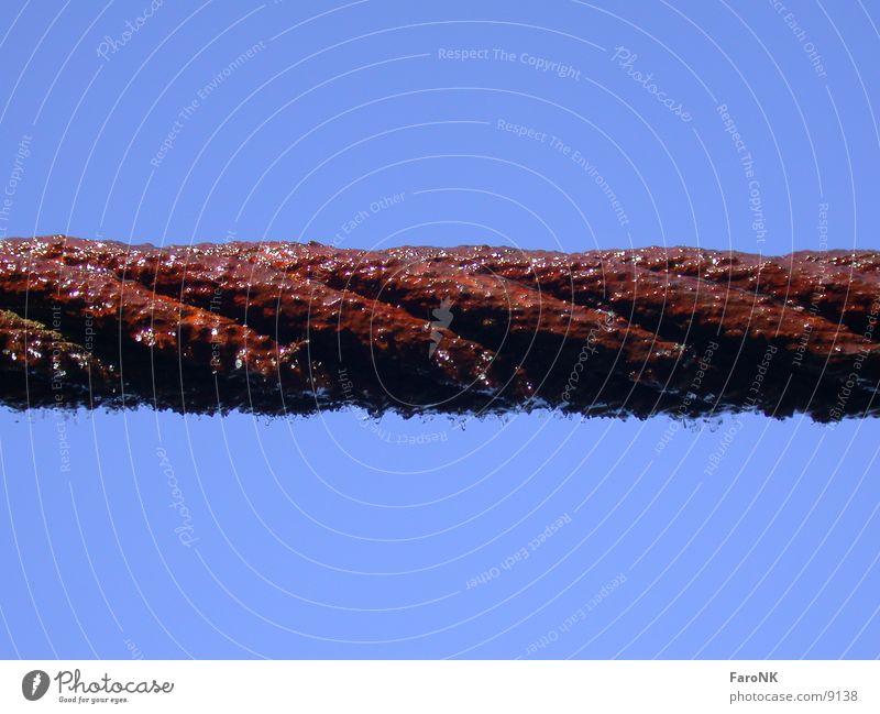 Stahlseil rot Industrie Drahtseil Seil Rost Eis
