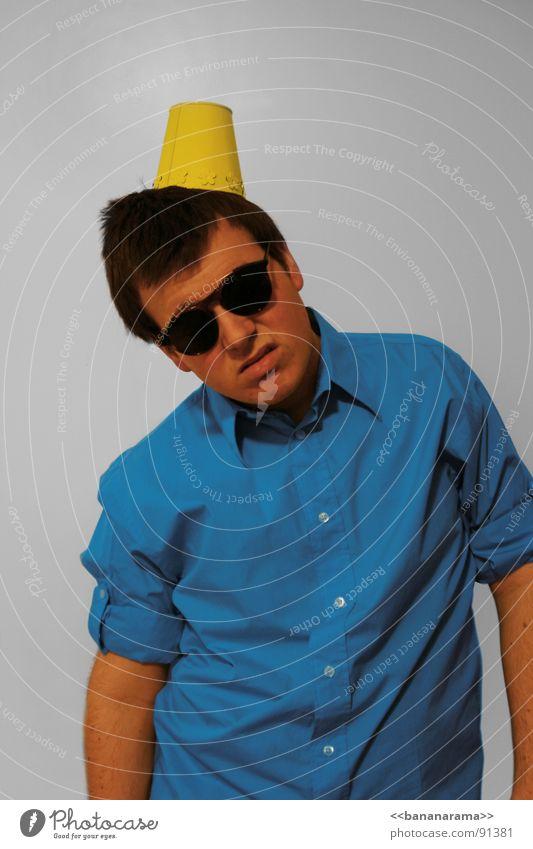 Happy Birtday! Mann blau gelb Party Brille Hut Langeweile Sonnenbrille Hass Glückwünsche Kindergeburtstag Happy Birthday