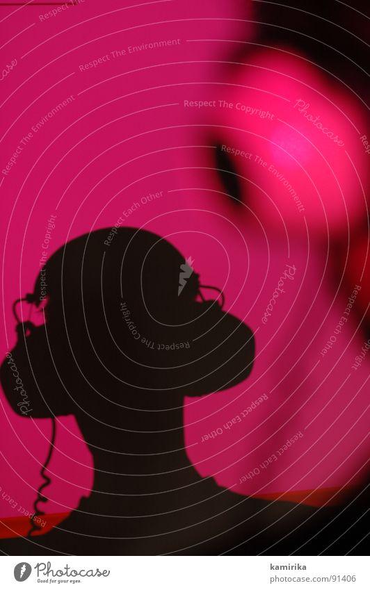 kakefka Disco Kopfhörer hören laut ruhig grell mehrfarbig Lied Diskjockey Silhouette Musik headphones Publikum Tanzen Kontrast rhytmus silloutte Profil