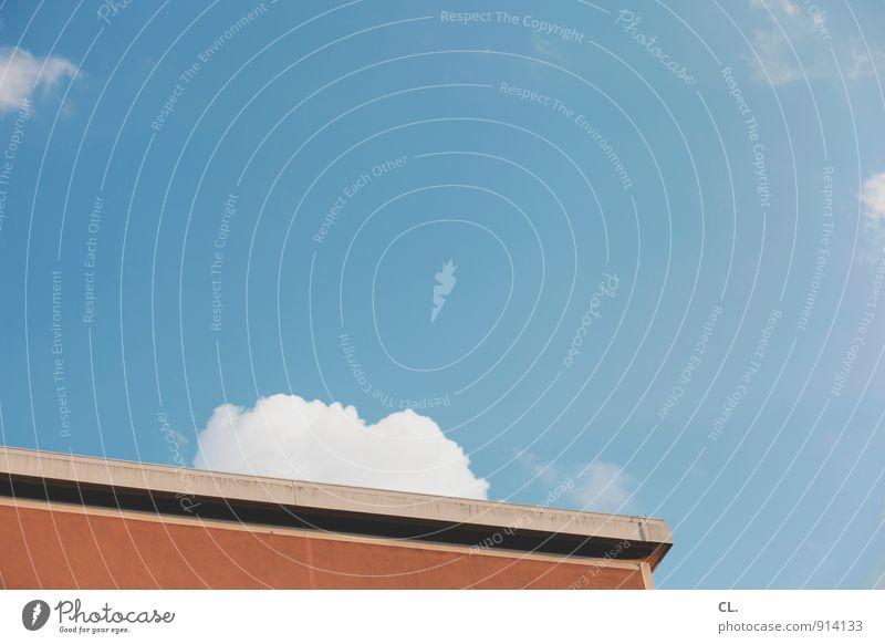 wir verlassen die erde Himmel Natur Ferien & Urlaub & Reisen blau Sommer ruhig Wolken Haus Umwelt Wand Architektur Mauer Gebäude Freiheit Freizeit & Hobby