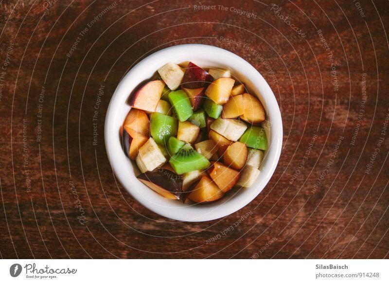 Obstsalat Lebensmittel Salat Salatbeilage Frucht Apfel Orange Süßwaren Honig Ernährung Essen Frühstück Schalen & Schüsseln Lifestyle Fitness ästhetisch exotisch