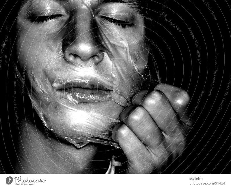 Schönheitsmaske? Hand Jugendliche alt weiß Gesicht schwarz Gesundheit Haut glänzend Hintergrundbild Wandel & Veränderung Maske Wissenschaften Konzentration