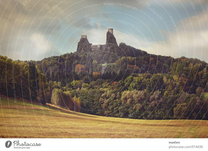 Toplage Himmel Natur blau Pflanze grün Baum Landschaft Wolken Wald gelb Berge u. Gebirge Herbst Gras braun Felsen Wetter