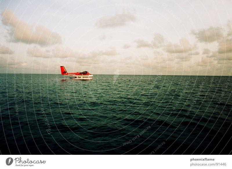 airtaxi Meer rot Ferien & Urlaub & Reisen Flugzeug Asien Malediven