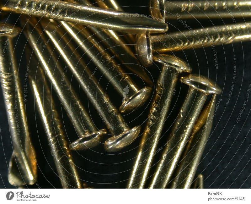 Nägel Nagel Makroaufnahme Nahaufnahme Metall