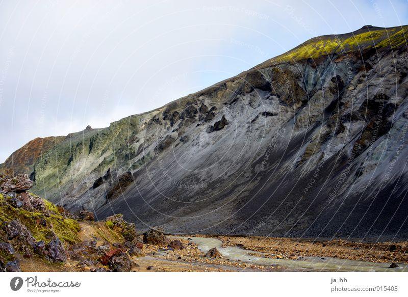 Island II Erholung ruhig Ferien & Urlaub & Reisen Tourismus Ausflug Abenteuer Ferne Freiheit Insel Berge u. Gebirge wandern Grönland Vulkan Vulkankrater