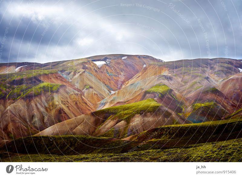 Island I Natur Landschaft Pflanze Urelemente Gewitterwolken Moos Berge u. Gebirge Vulkan Unendlichkeit ruhig Abenteuer Erholung Freiheit Reykjavík Vulkaninsel