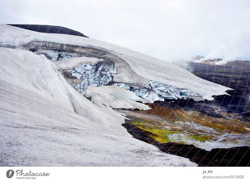 Island IV Umwelt Natur Landschaft Pflanze Urelemente Klima Klimawandel Eis Frost Berge u. Gebirge Gipfel Schneebedeckte Gipfel Gletscher Vulkan Grönland