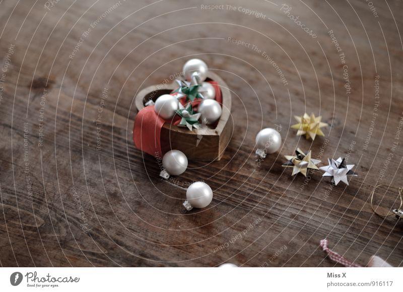 Krimskrams Dekoration & Verzierung Weihnachten & Advent Dose Sammlung Sammlerstück Holz Glas Kugel glänzend Weihnachtsdekoration Christbaumkugel Stern (Symbol)