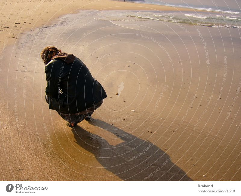 Zahara Mensch Frau Wasser Sommer Strand Sand springen Küste Spanien Andalusien Cadiz