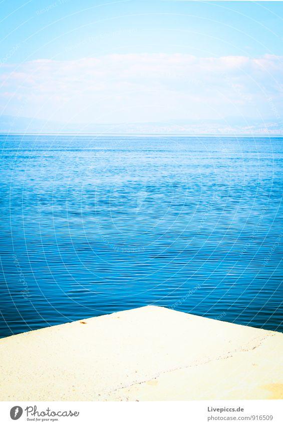 Insel Krk Ferien & Urlaub & Reisen Sommer Sommerurlaub Meer Wasser Schönes Wetter blau gelb schwarz weiß Außenaufnahme Menschenleer