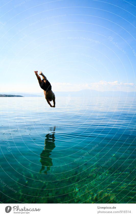 Insel Krk 3 Himmel Ferien & Urlaub & Reisen blau grün weiß Wasser Sommer Meer Landschaft Küste fliegen türkis Sommerurlaub