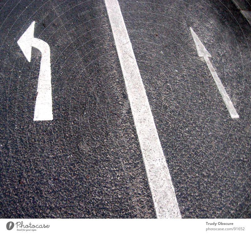 wrong direction Straße Wege & Pfade Schilder & Markierungen KFZ Ziel Pfeil Zeichen Richtung Verkehrswege Fahrzeug Hinweis Regel Regelung Sackgasse Andeutung