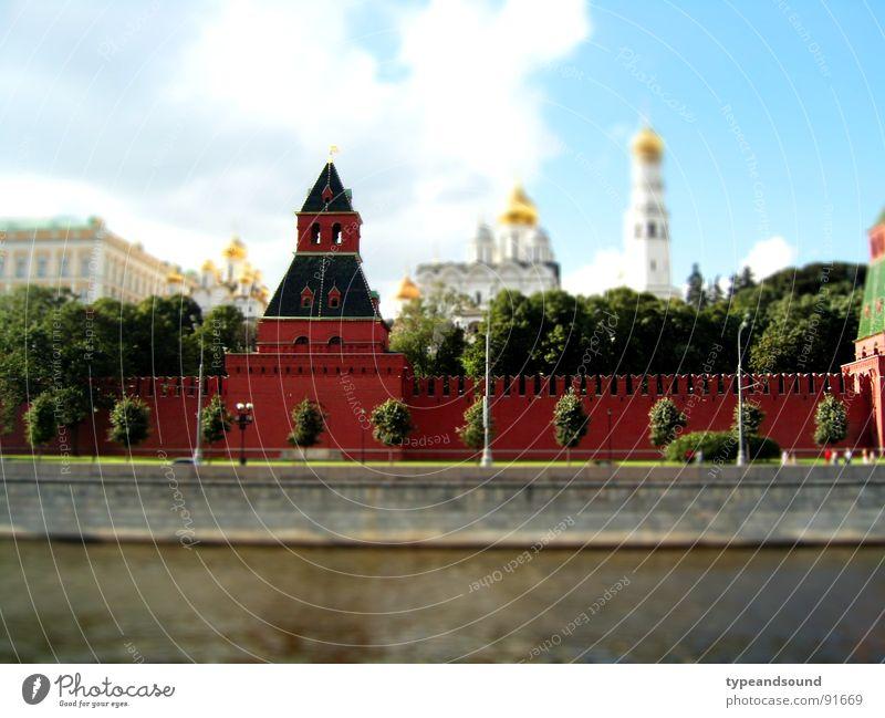 1:142000000 Fluss Moskwa Moskau Russland Stadt Hauptstadt Kirche Palast Burg oder Schloss Bauwerk Mauer Wand Sehenswürdigkeit Wahrzeichen Denkmal Kreml