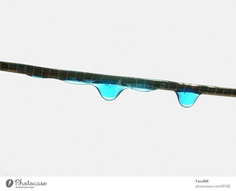 Drips blau Wassertropfen Klebstoff