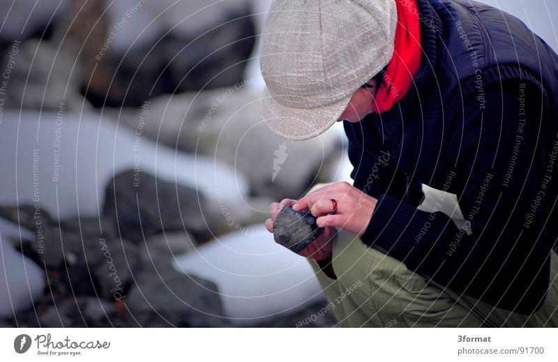 der stein der ... Frau Winter kalt Schnee Stein Eis Weltall Konzentration Wissenschaften Fragen