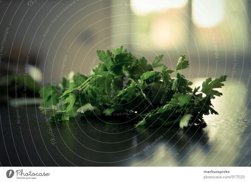 Petersilie Lebensmittel Kräuter & Gewürze Öl Ernährung Essen Bioprodukte Vegetarische Ernährung Diät Fasten Slowfood Italienische Küche Messer Gesunde Ernährung