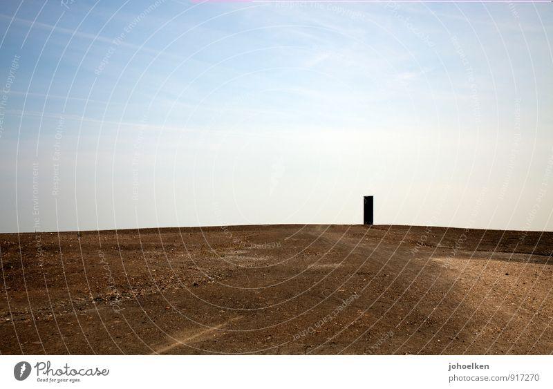 ... für das Ruhrgebiet Himmel blau Einsamkeit Landschaft Ferne Sand braun Kunst Stadt Essen stehen Schönes Wetter rein Wüste heiß Stahl Sehenswürdigkeit
